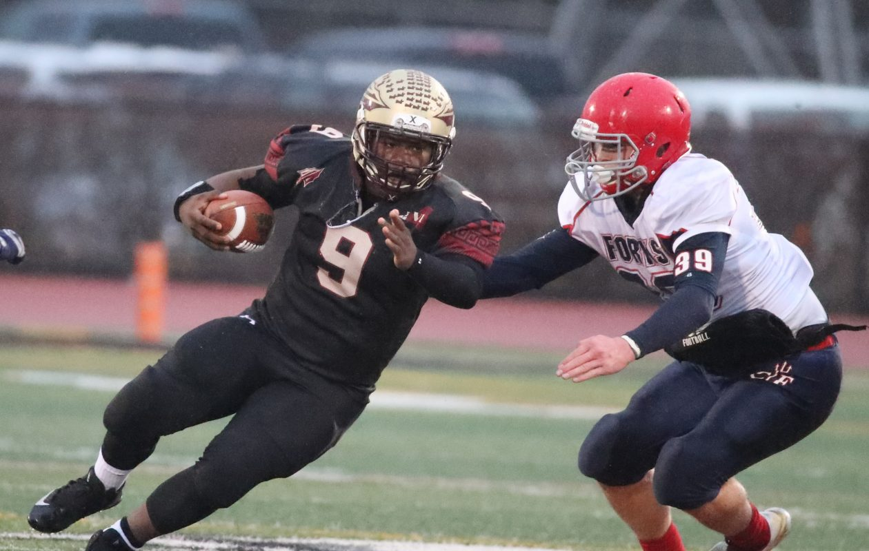 Quarterback KeShone Beal was the centerpiece of Cheektowaga's offense on Saturday, but the Warriors lost to Chenango Forks in the Class B semifinals, 48-28.  (James P. McCoy / Buffalo News)