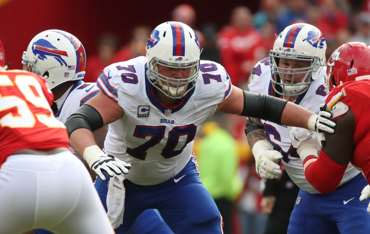 Center Eric Wood played every Bills offensive snap last season. (James P. McCoy / Buffalo News)