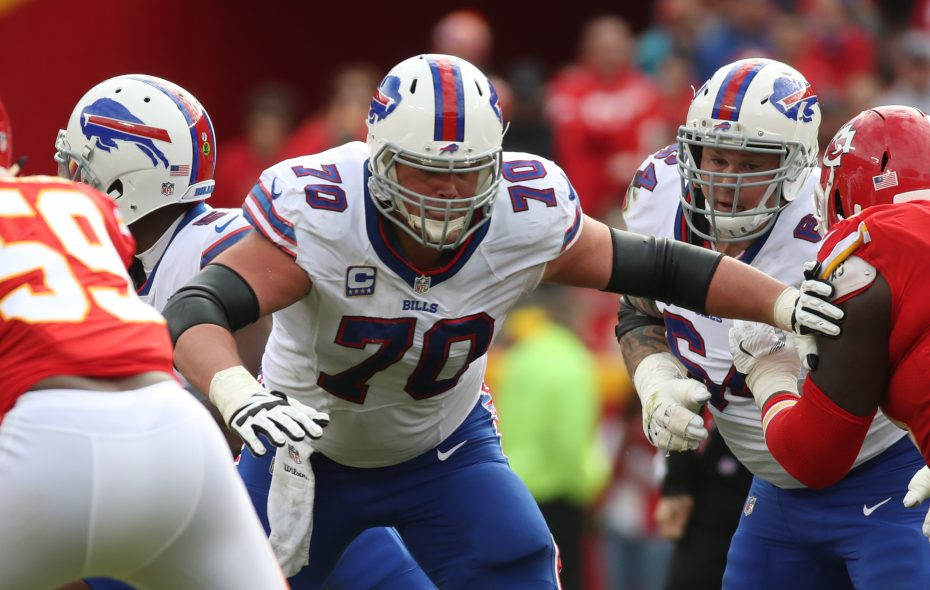 The loss of center Eric Wood was tough for the Buffalo Bills to overcome in 2018. (James P. McCoy/Buffalo News)
