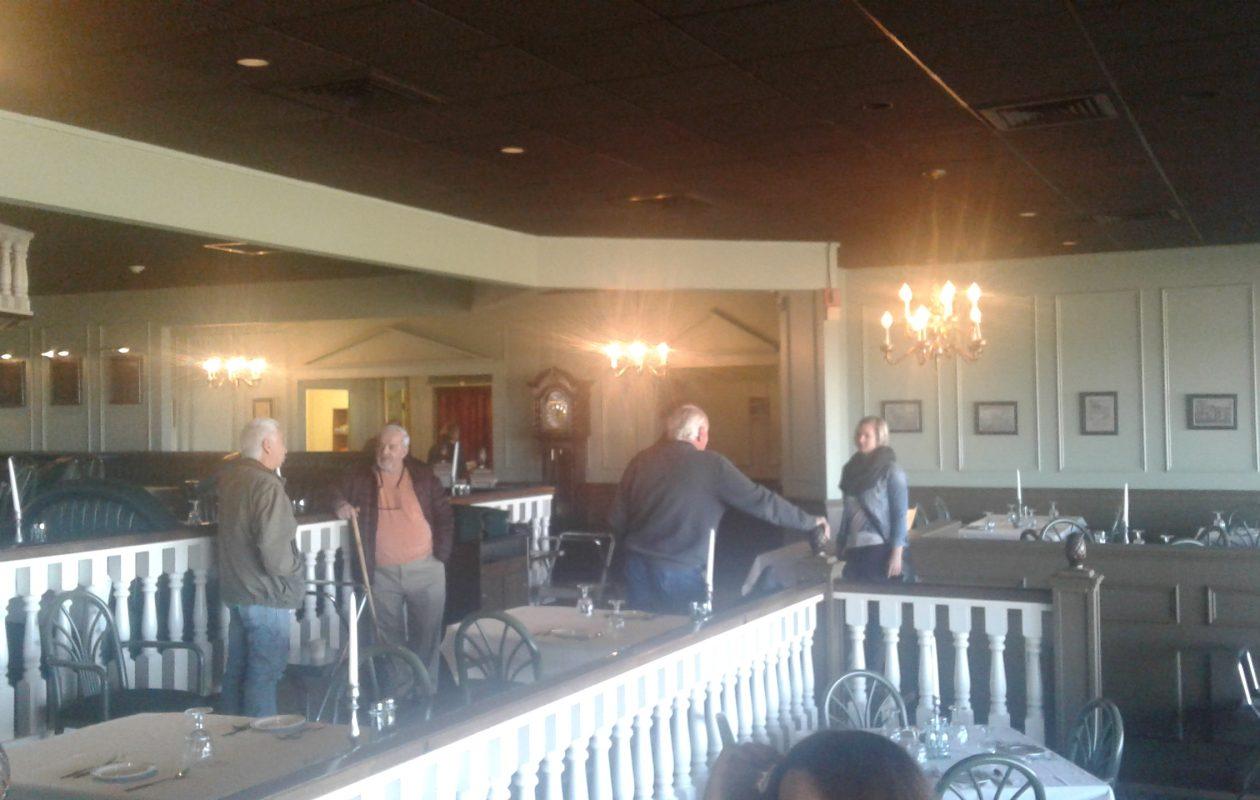 Prospective bidders check out Schimschack's Restaurant in Pekin before it was auctioned Nov. 8, 2017. (Thomas J. Prohaska/The Buffalo News)