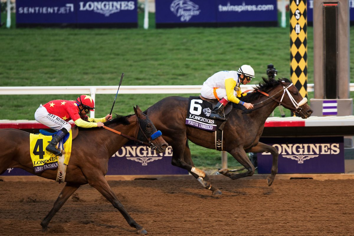 Unbridled Forever holds off Abel Tasman to win the $2 million Breeders' Cup Distaff (Photo Credit: Eclipse Sportswire / Breeders' Cup Photos ©)