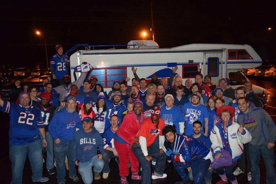 The Bills Backers of Kansas City before Buffalo's game at Arrowhead Stadium in 2015. (Contributed by Bills Backers of Kansas City)