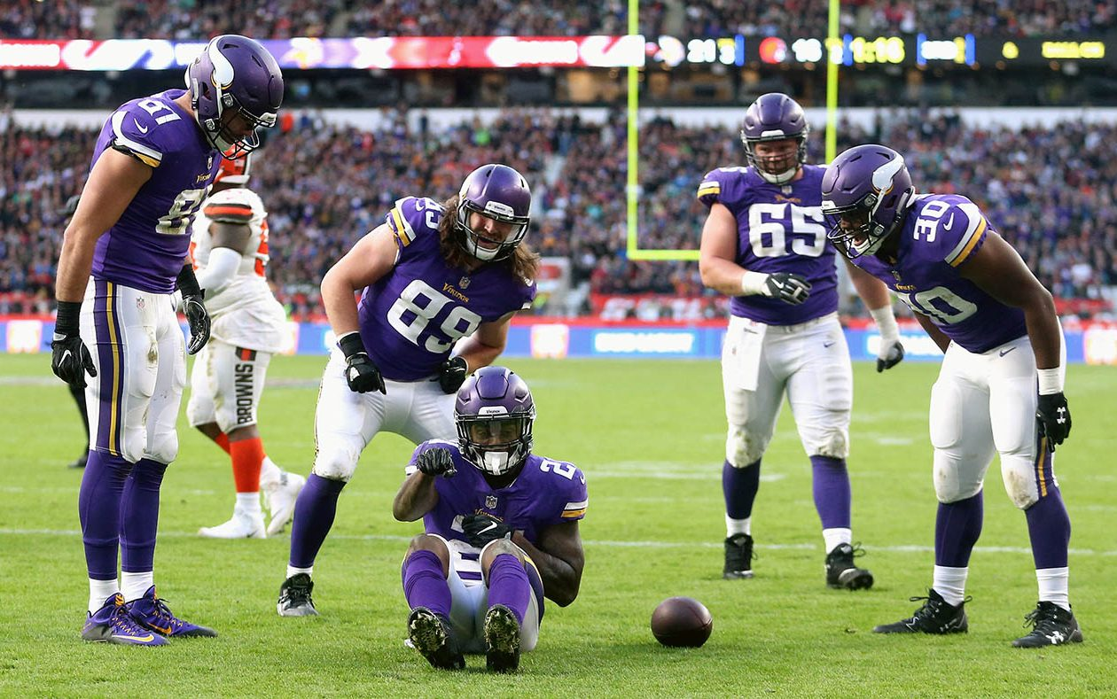 The Minnesota Vikings move up in this week's NFL Power Rankings. (Alex Pantling/Getty Images file photo)