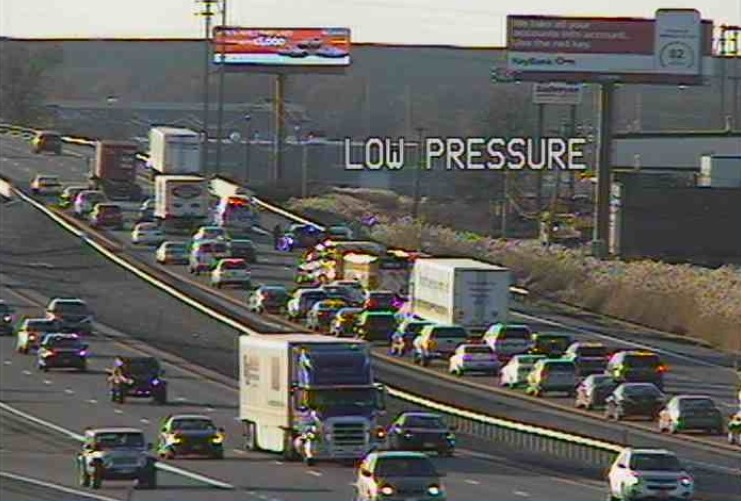 Traffic on I-290.