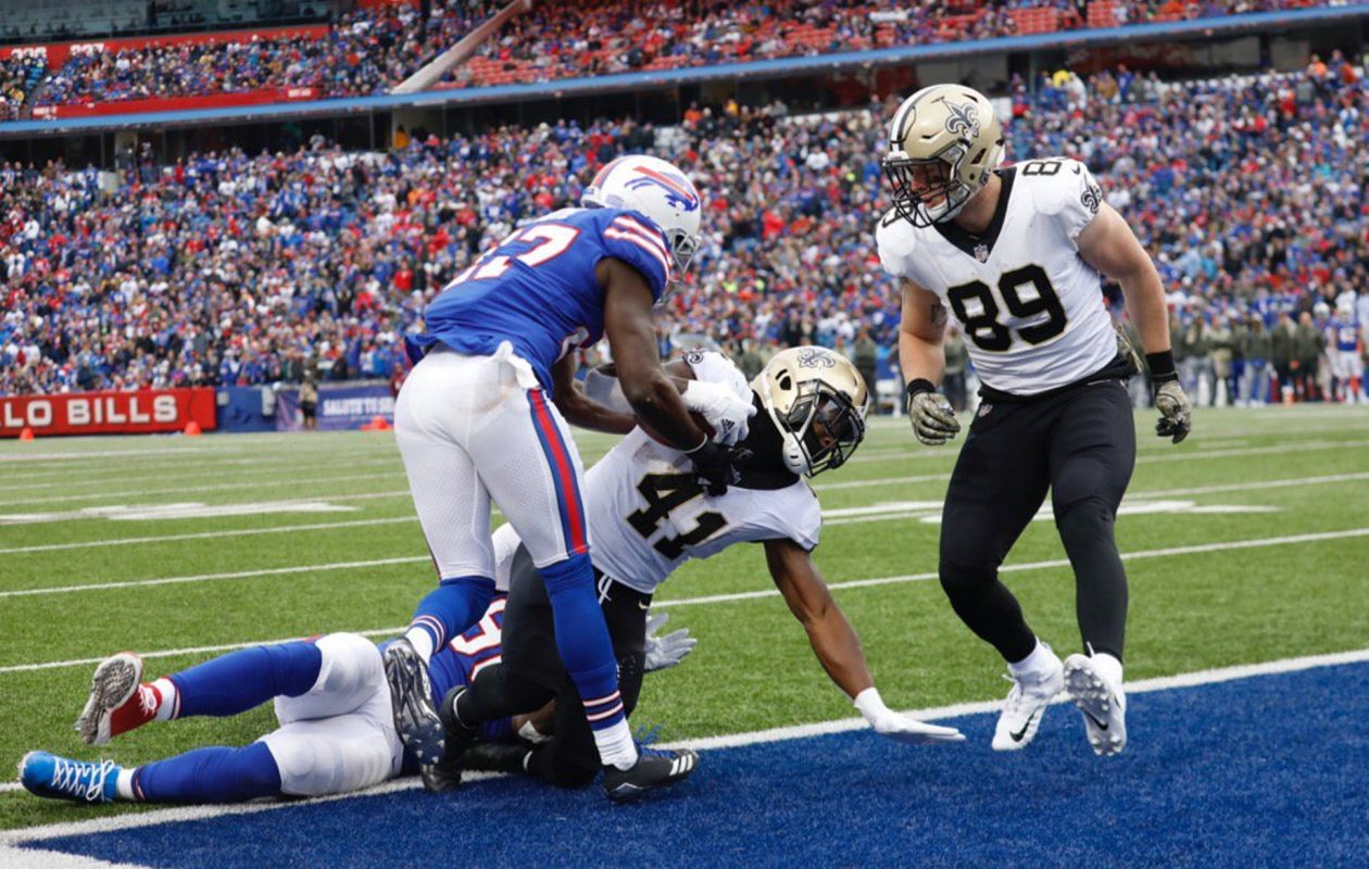 The Saints loss was a low point for the Bills' run defense. (Derek Gee/Buffalo News)