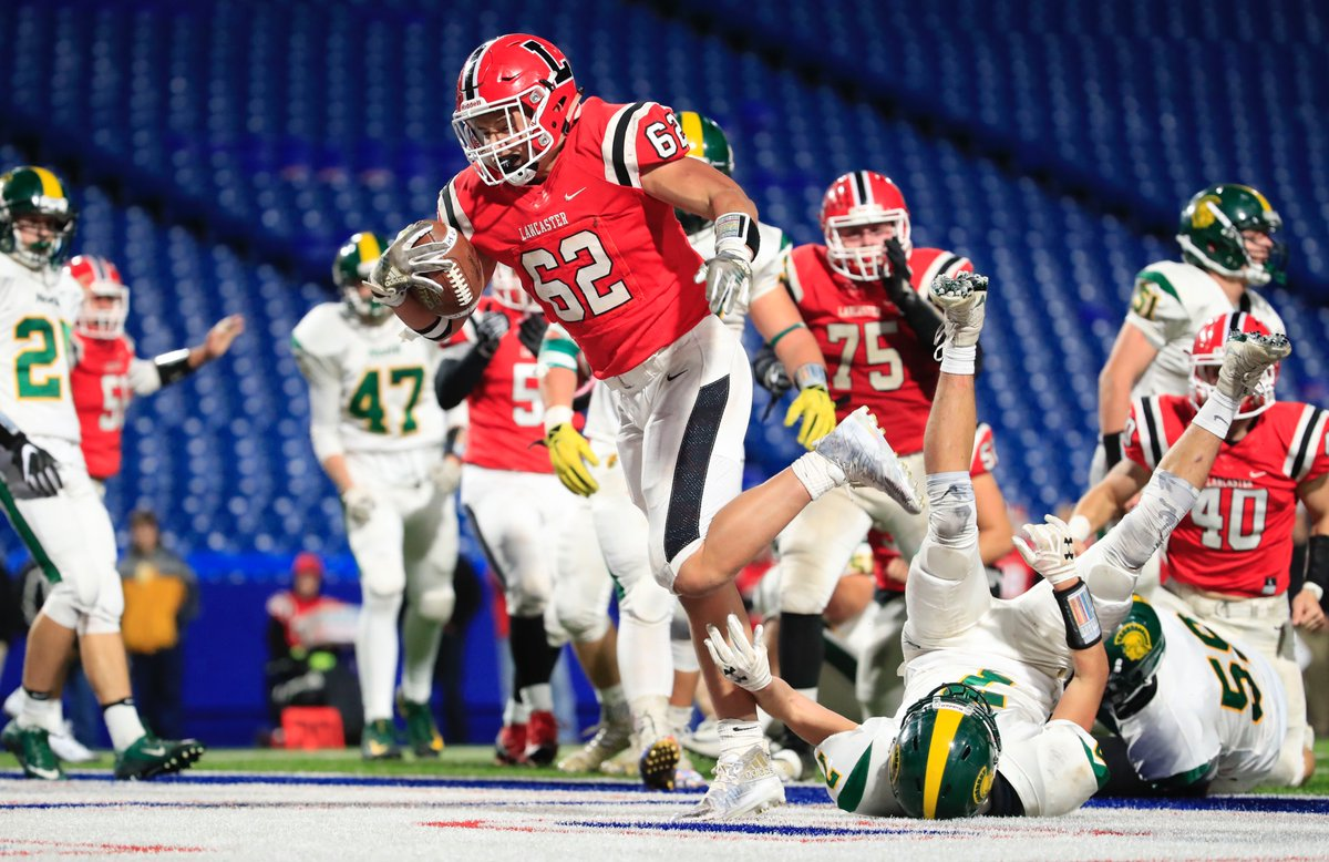Joe Andreessen and the Lancaster Legends play in their first state Class AA championship game Sunday against defending champ Troy of Section II. (Harry Scull Jr./Buffalo News)