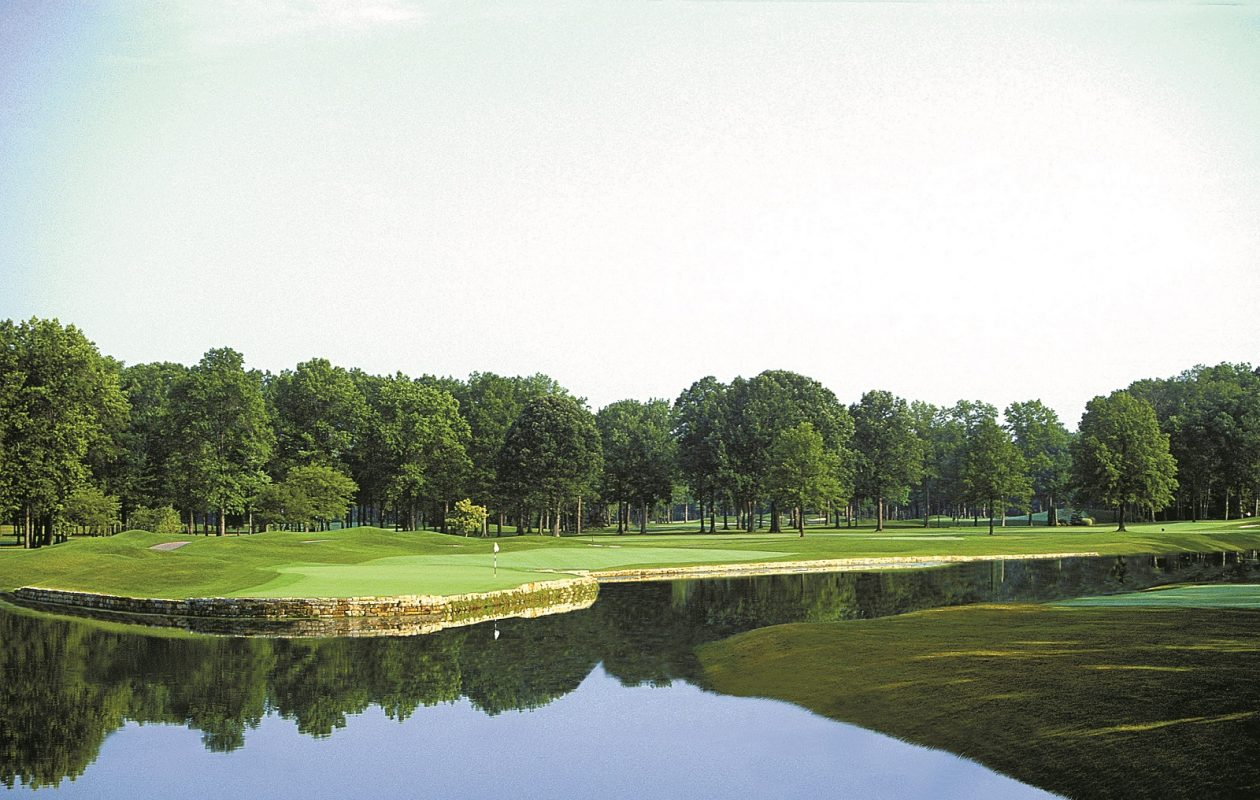 The eighth hole at Avalon Lakes