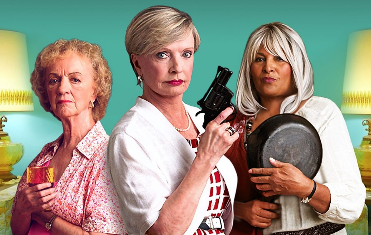 Florence Henderson, center, leads the 'Bad Grandmas.' The dark comedy has its Buffalo premiere at the Screening Room Cinema Cafe.