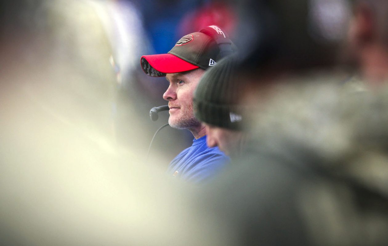 Buffalo Bills head coach Sean McDermott looks on during the fourth quarter against the Saints at New Era Field in Orchard Park, Sunday, Nov. 12, 2017.  (Derek Gee/Buffalo News)