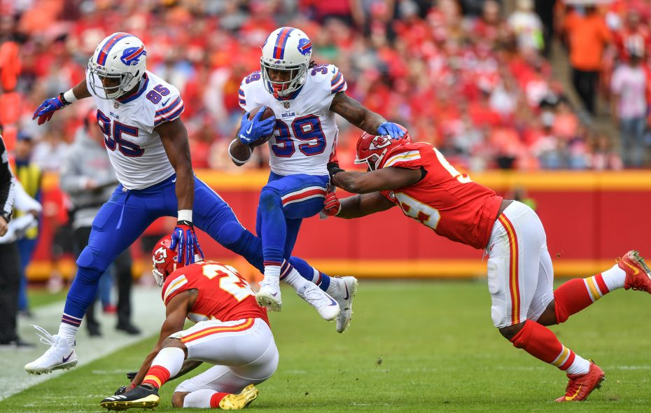 Bills running back Travaris Cadet has been an upgrade over Mike Tolbert as the team's backup running back. (Getty Images)