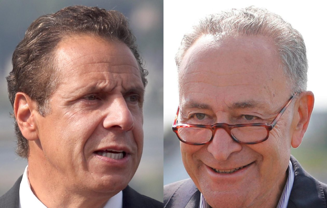 Gov. Andrew Cuomo and Sen. Charles Schumer took Republican Congressmen Chris Collins and Tom Reed to task on Monday, Nov. 6, 2017 for supporting a partial elimination of the federal tax deduction for state and local income taxes.