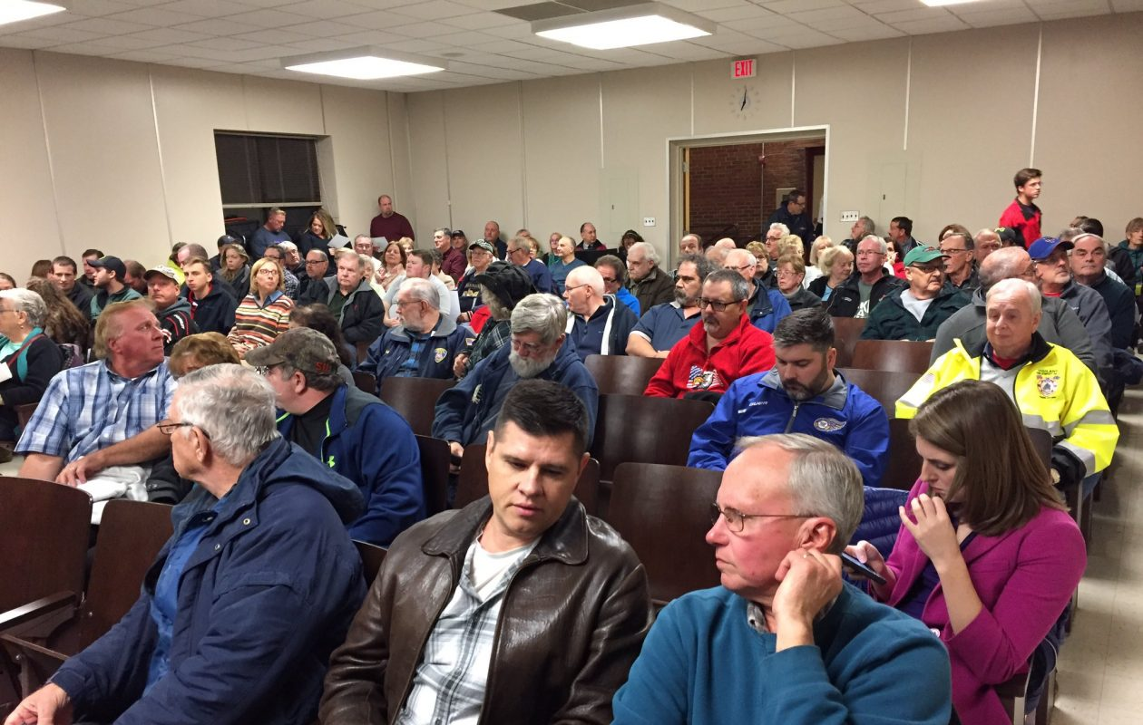Residents crowded the room for the West Seneca Town Board meeting. (Barbara O'Brien/Buffalo News)