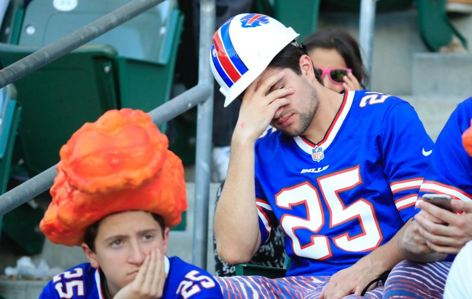 """The Bills leapfrogged the Browns and are now the most miserable fan base in the NFL,"" ESPN says. (Harry Scull Jr./News file photo)"