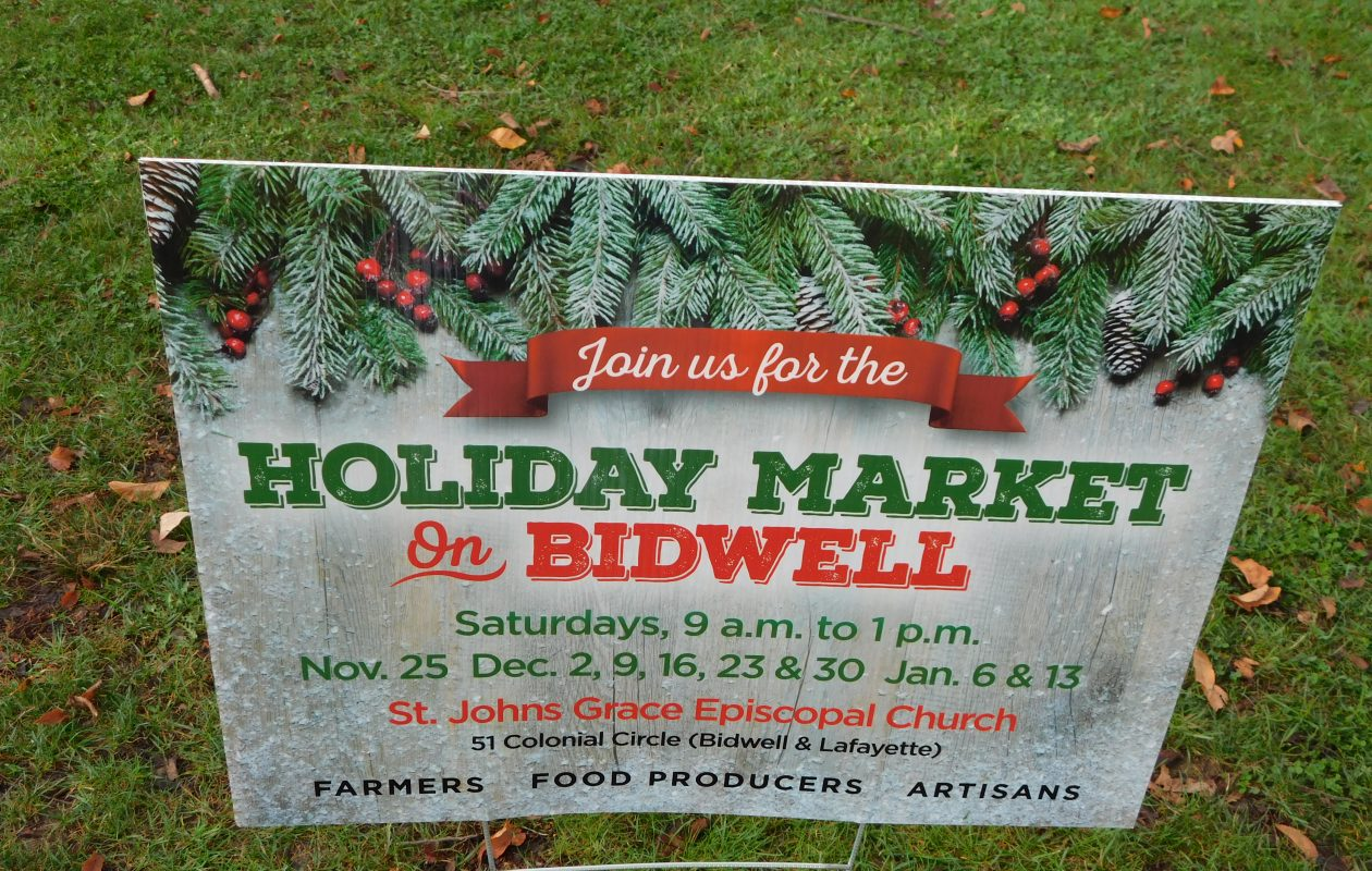 The holiday Market on Bidwell opens for the season Saturday morning inside St. John's Grace Episcopal Church, 51 Colonial Circle. (Holiday Market on Bidwell)