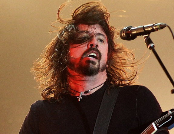 Dave Grohl of The Foo Fighters.  (Photo by Dave Hogan/Getty Images)