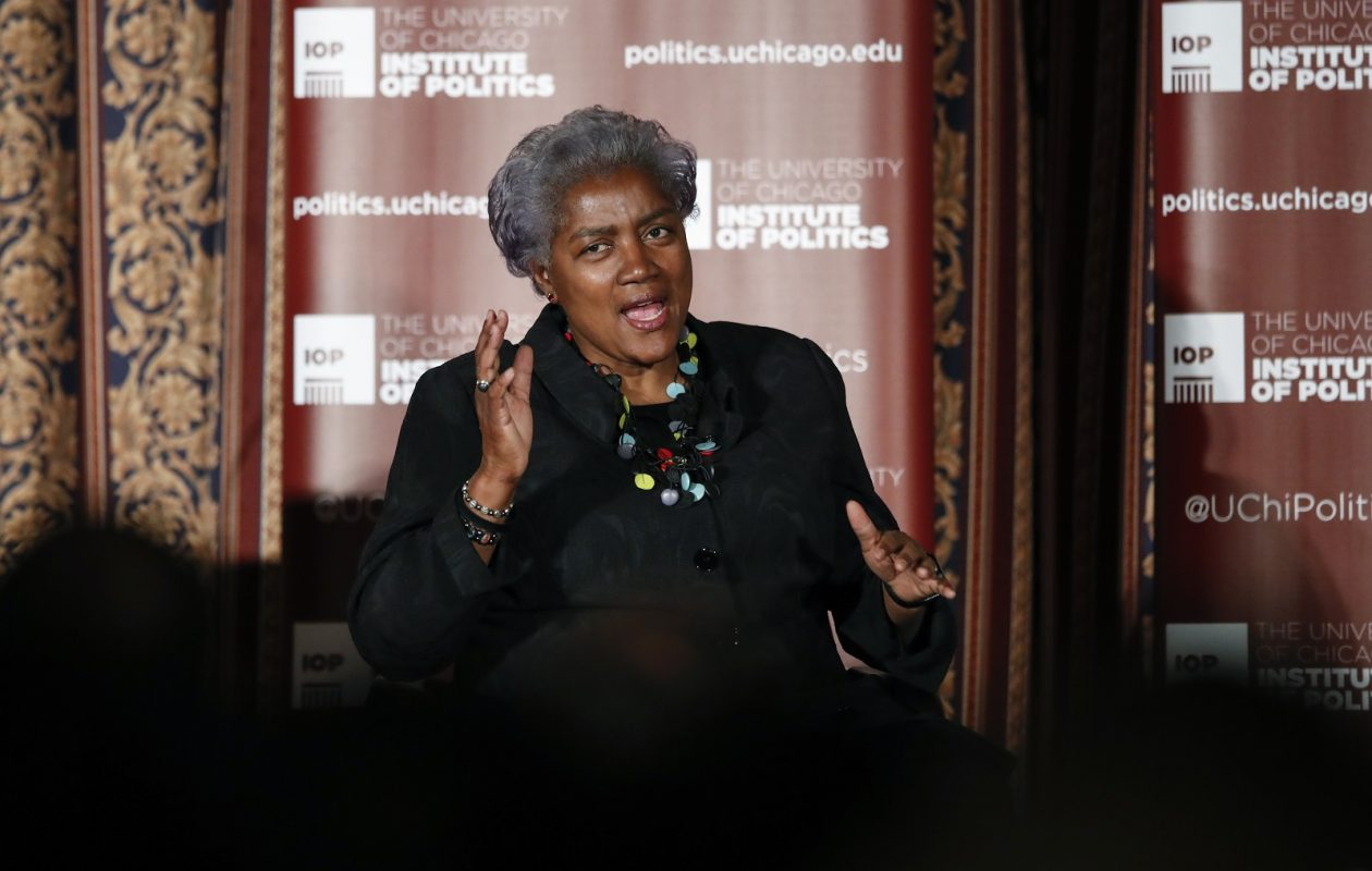 Former DNC Chair Donna Brazile speaks at The University of Chicago on Nov. 13 in Chicago. (Kamil Krzaczynski/Getty Images)