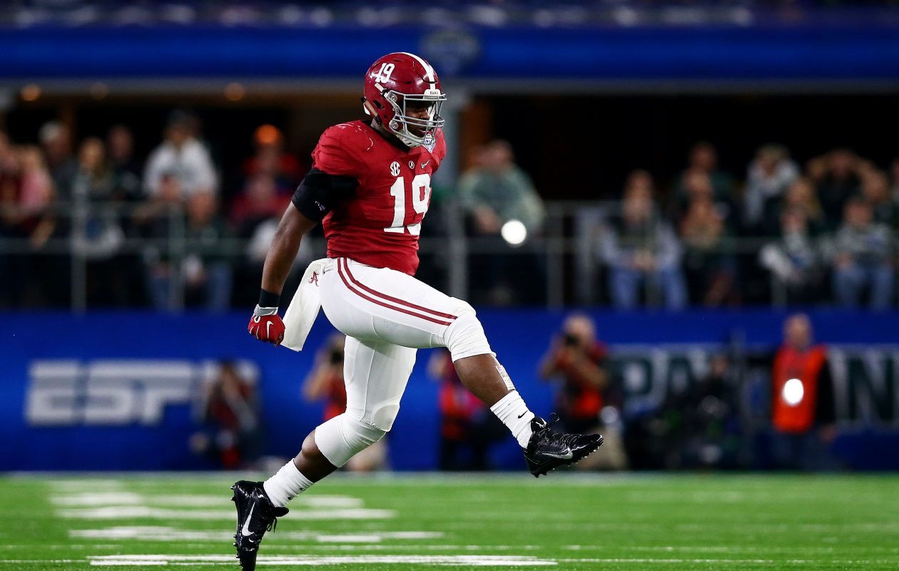 Reggie Ragland, who played with the Alabama Crimson Tide, was drafted by the Bills 41st overall in 2016. He was traded to the Kansas City Chiefs in August.  (Photo by Tom Pennington/Getty Images)