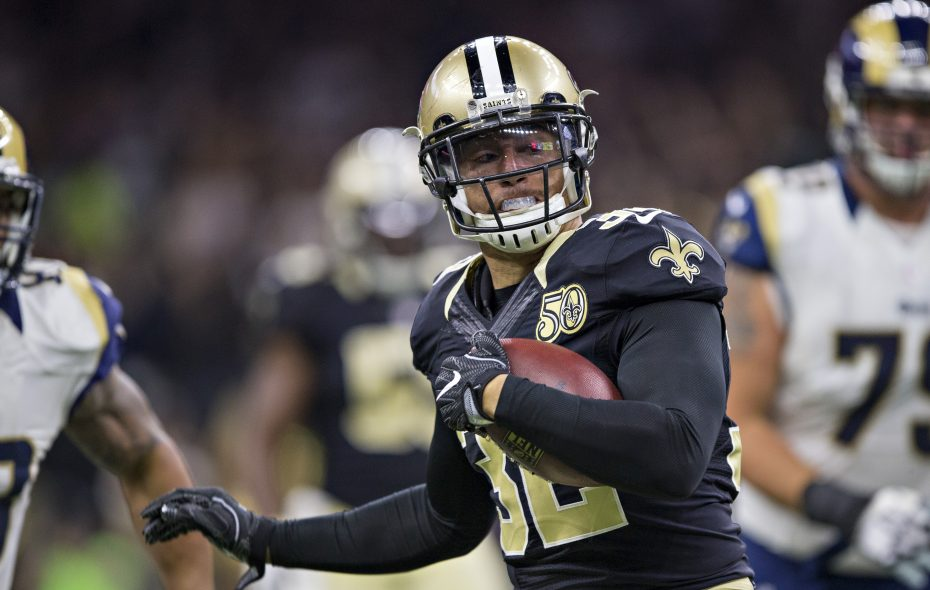 Kenny Vaccaro of the New Orleans Saints has a groin injury. (Getty Images)