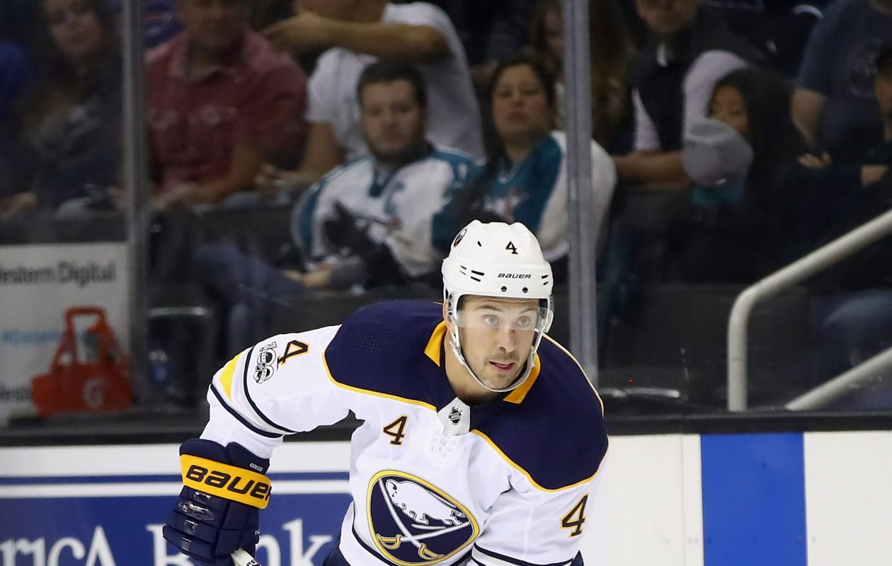 Josh Gorges hopes that playing physical will keep him in Sabres' lineup. (Getty Images)
