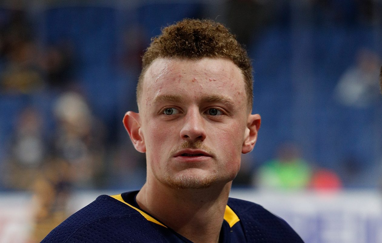 Jack Eichel can't pinpoint what's wrong in his game. (Getty Images)