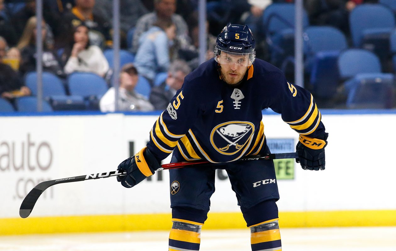 Matt Tennyson was placed on waivers by the Sabres. (Getty Images)