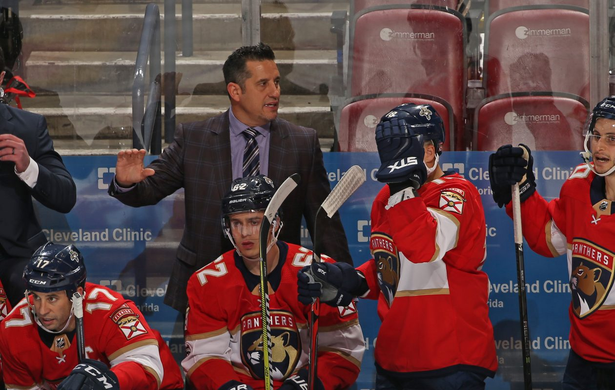 It's the first season as an NHL head coach for Bob Boughner. (Getty Images)