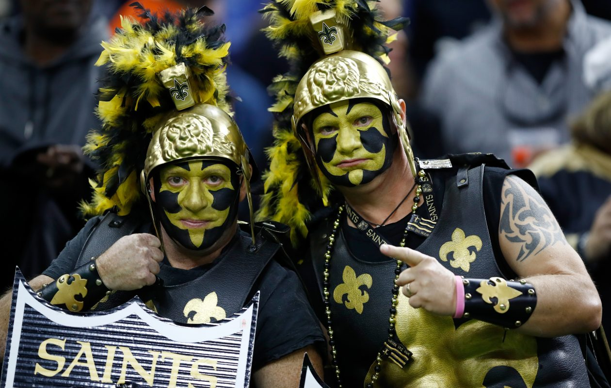 New Orleans Saints fans support their team (Photo: Wesley Hitt/Getty Images)