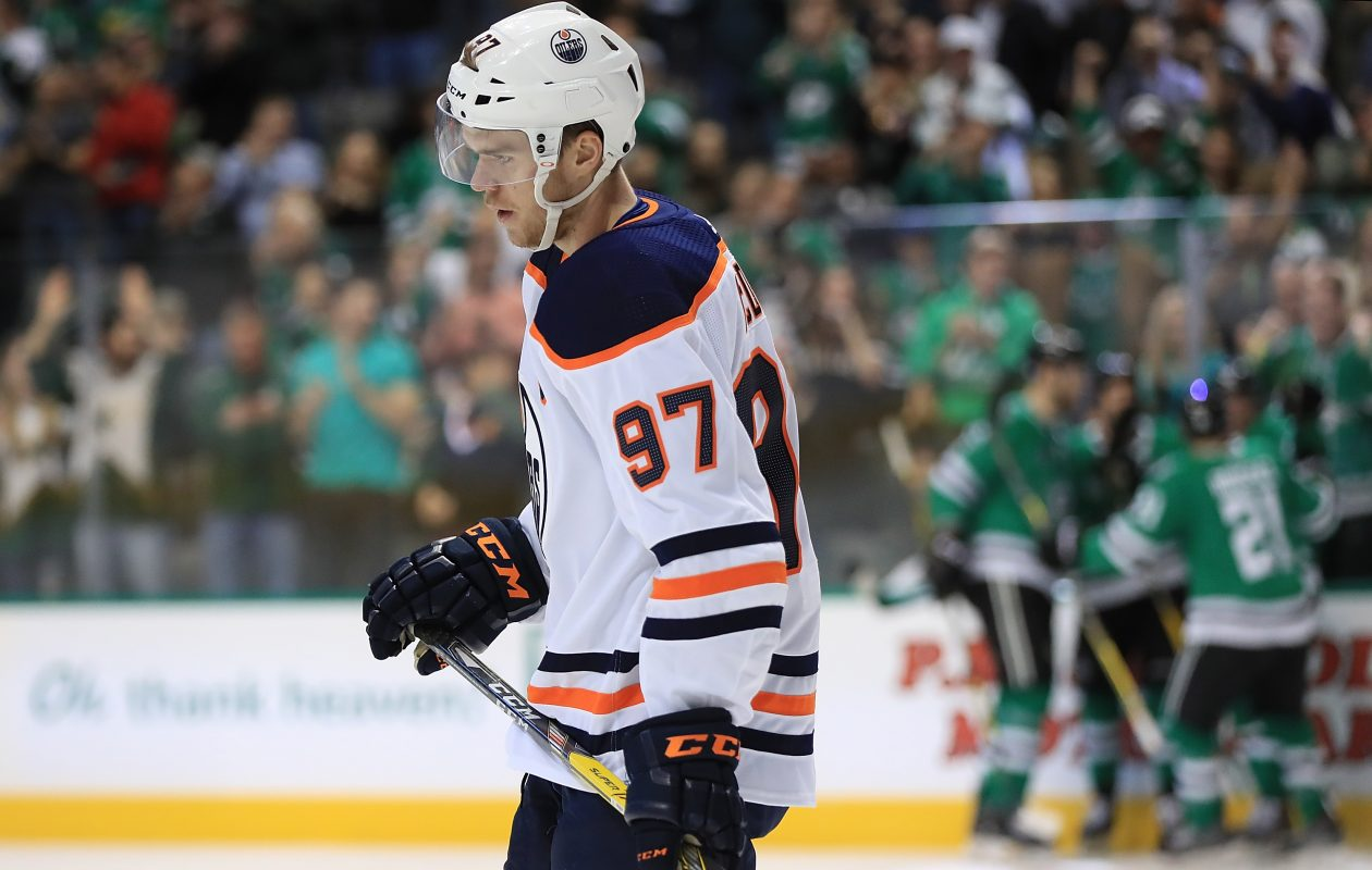 Connor McDavid and the Edmonton Oilers come to KeyBank Center Friday.  (Getty Images)