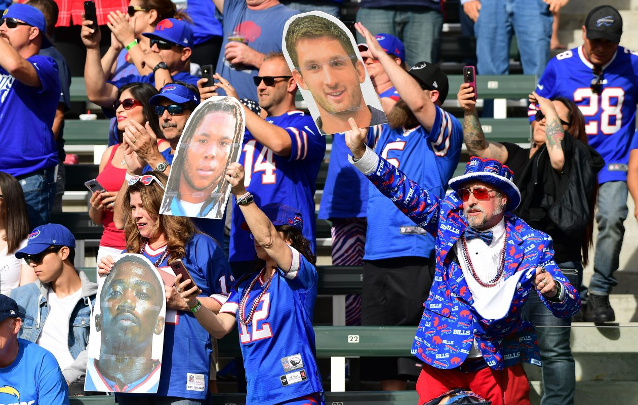 Buffalo Bills fans are seen during the game against the Los Angeles Chargers at the StubHub Center on Nov. 19, 2017. (Getty Images)