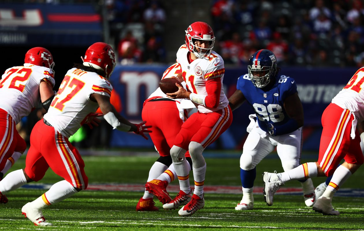 The Buffalo Bills (5-5) face the Kansas City Chiefs (6-4) at Arrowhead Stadium Sunday. (Getty Images)
