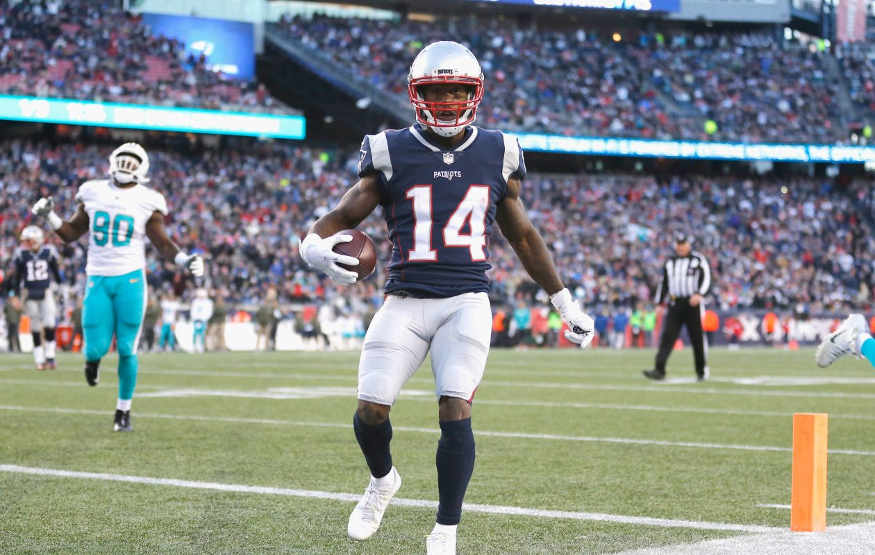 Brandin Cooks caught a 5-yard TD vs. Miami on Sunday. (Getty Images)