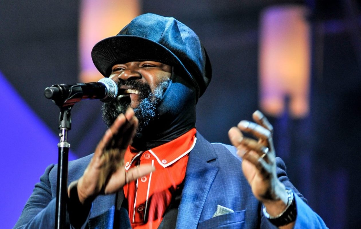 Gregory Porter performs on stage at the 2014 International Jazz Day Global Concert in Osaka, Japan. (Keith Tsuji/Getty Images for Thelonious Monk Institute of Jazz)