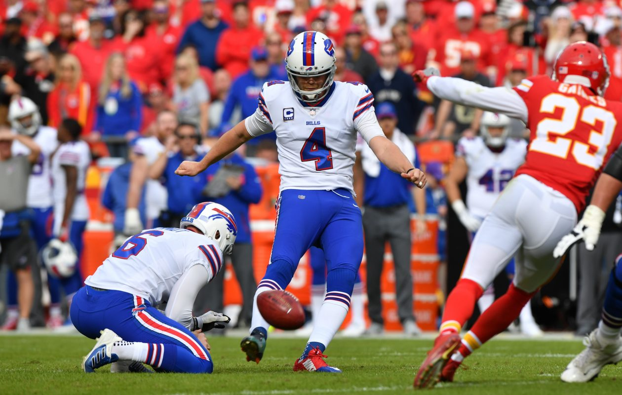 Bills kicker Stephen Hauschka was a big part of a much-improved performance on special teams by the Buffalo Bills in 2017. (Getty Images)