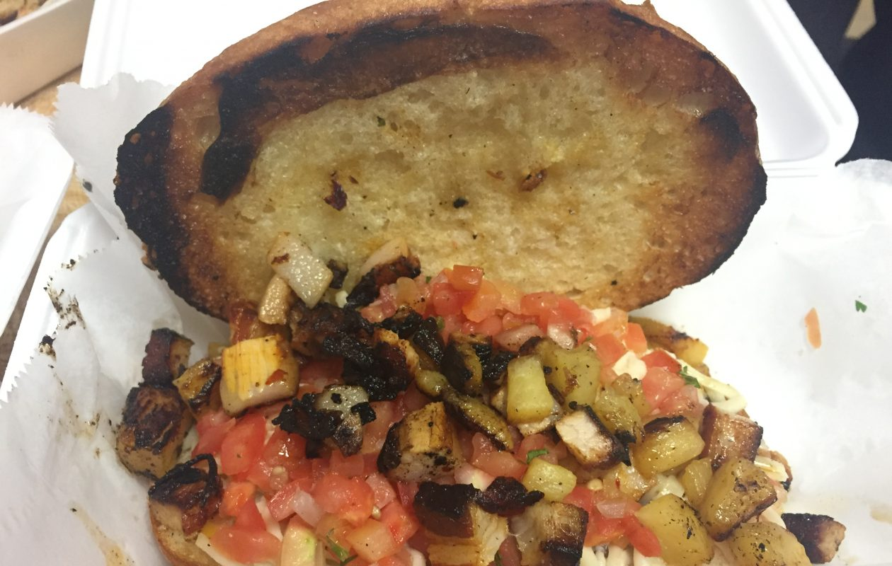 The al pastor torta from Left Coast Taco in East Aurora was one of the highlights. (Ben Tsujimoto/Buffalo News)