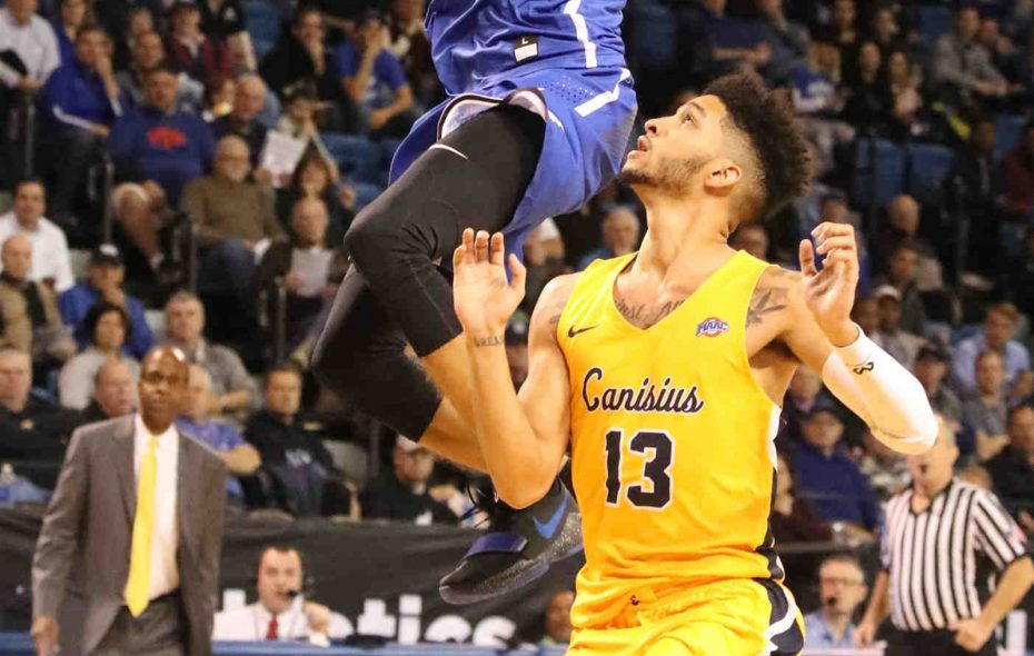Isaiah Reese scored 23 points in addition to 11 rebounds and assists in his triple-double against Youngstown State. (James P. McCoy / Buffalo News)