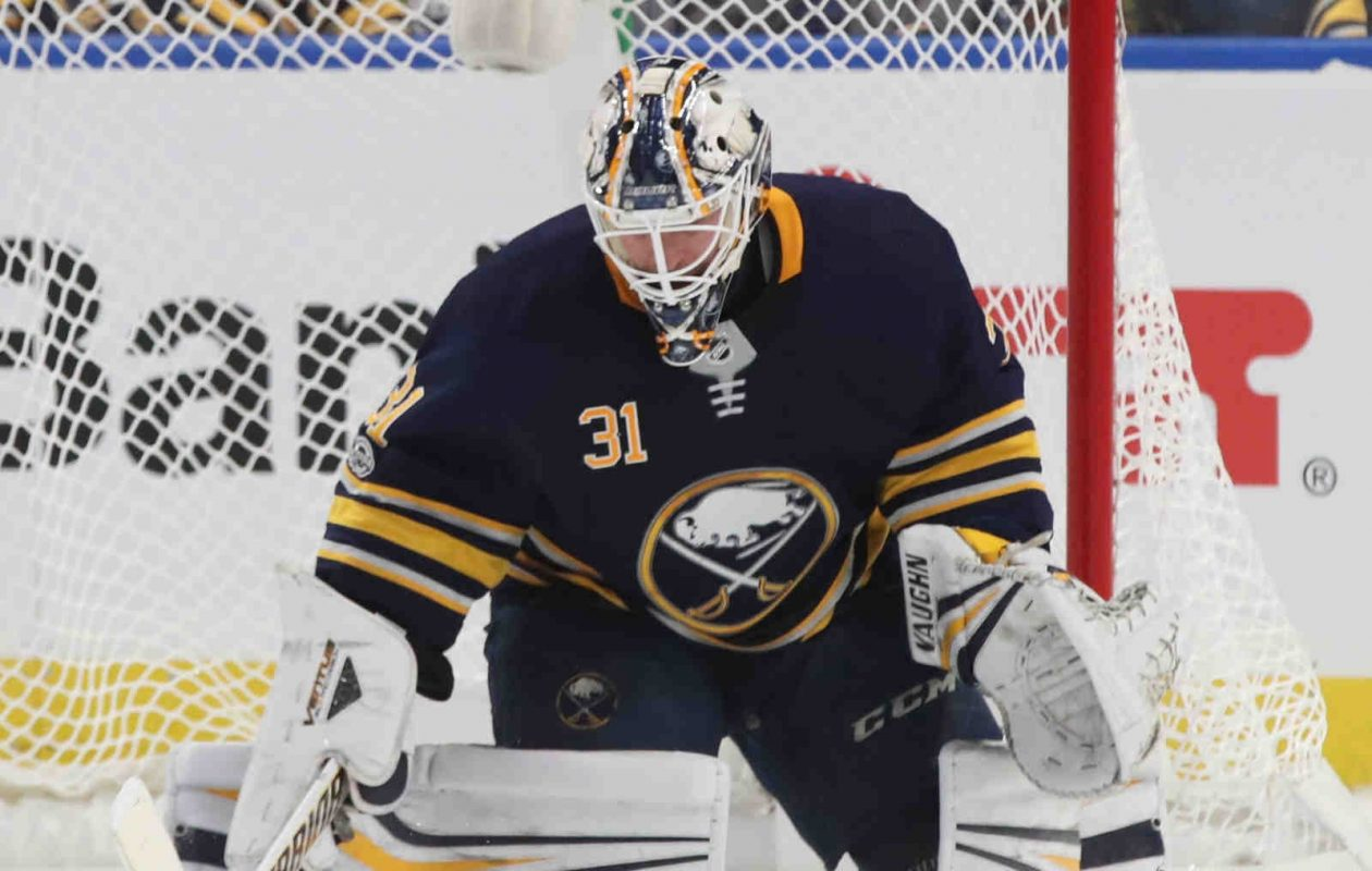 Sabres goaltender Chad Johnson knows he's not alone in losing relatives to cancer. (James P. McCoy/News file photo)