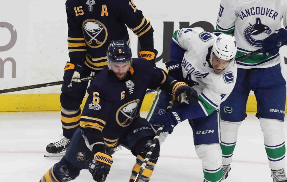 Marco Scandella is part of the only defense corps in the NHL that still doesn't have a goal. (James P. McCoy/Buffalo News)