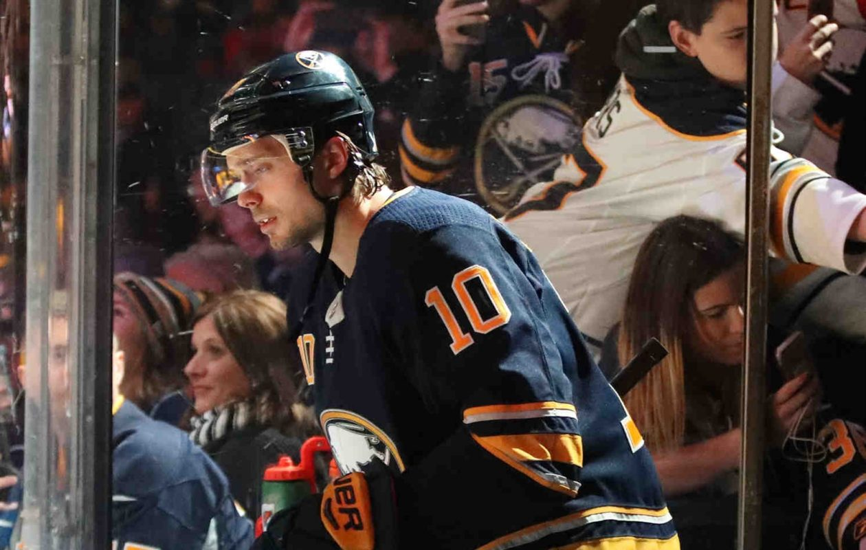Jacob Josefson had a goal and assist during his first two games back from injury, but he's out again. (James P. McCoy/Buffalo News)