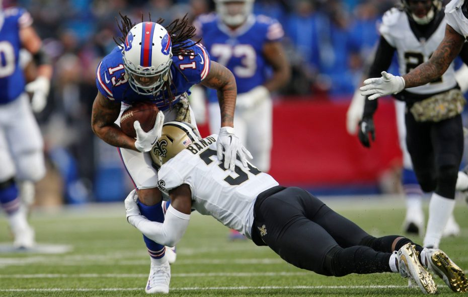 Bills receiver Kelvin Benjamin had three catches in his first game with the team. (Derek Gee/Buffalo News)