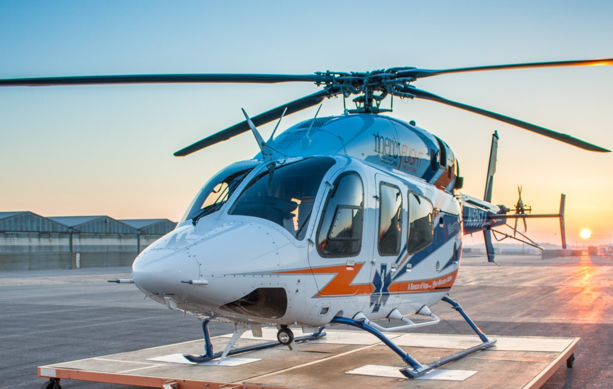 Mercy Flight's lifesaving helicopter. (Contributed photo)