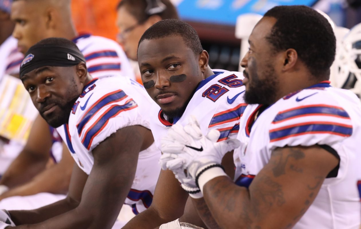 Buffalo Bills running back LeSean McCoy denies allegations against him. (James P. McCoy/Buffalo News)