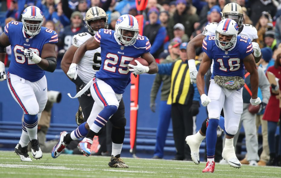 Bills running back LeSean McCoy has averaged 1.77 yards before contact per rush, which is actually the third-highest among the 22 running backs who've been given at least 100 carries through Week 11.  (James P. McCoy/Buffalo News)