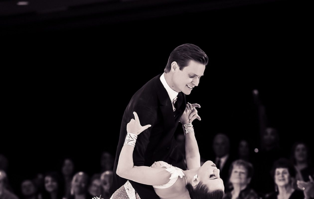 Ballroom dance partners Mayo Alanen and Lauren Walier, have won the 2017 Michigan Dance Challenge, hosted by Mark Brock, and several other honors during the last year. (Mayo Alanen/Special to the News)