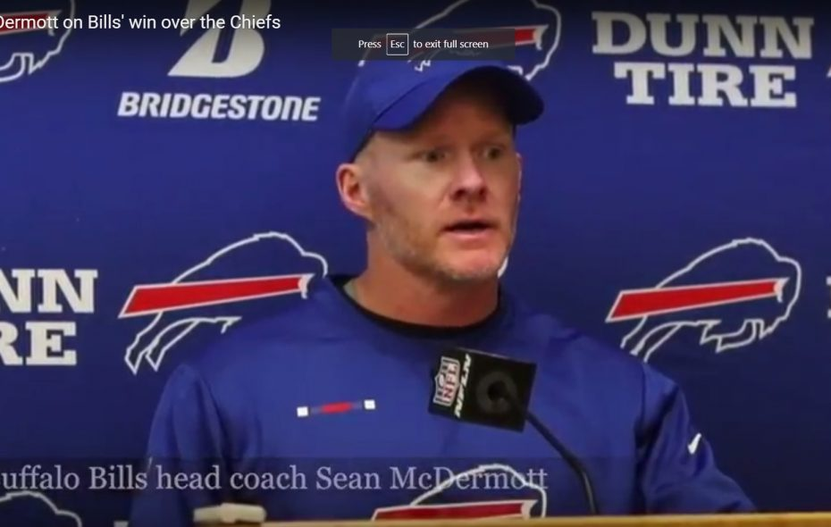 Watch: Sean McDermott's press conference after Bills' loss to Patriots