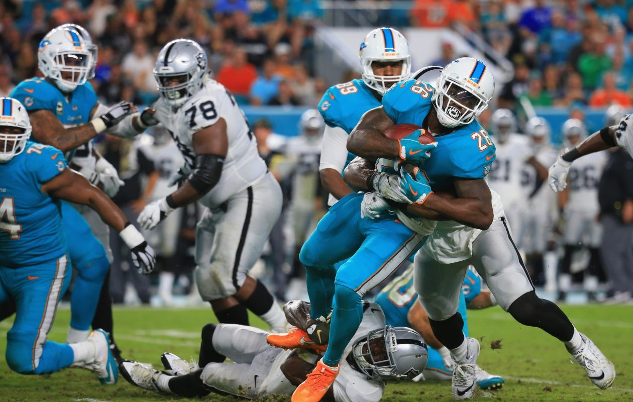The Miami Dolphins are 4-4, the only non-winning team closer than two games of the Bills in the loss column. (Getty Images)