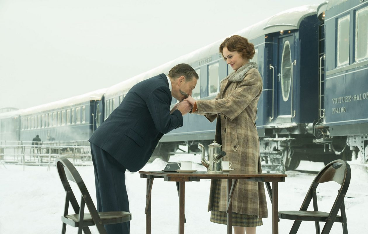 Kenneth Branagh and Daisy Ridley in 'Murder on the Orient Express.' (Nicola Dove, Twentieth Century Fox)