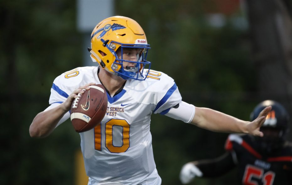 Matt Myers passed for 24 of his 46 total touchdowns this season for West Seneca West. (Harry Scull Jr./Buffalo News)