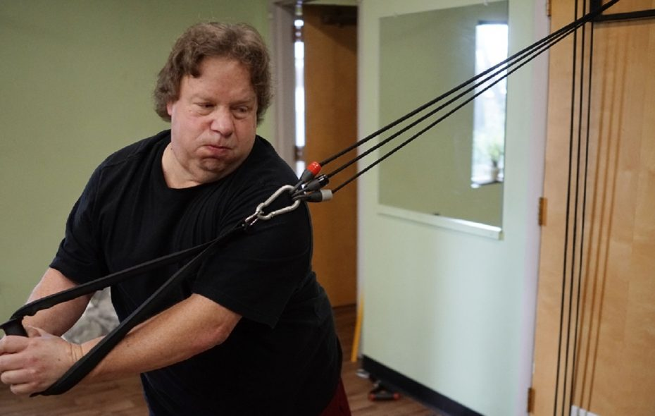 """""""If I didn't do this,"""" WGR Sports Radio Sabres beat reporter Paul Hamilton says of his gastric bypass surgery last year, """"I didn't think I would have lasted another two years."""" (Derek Gee/Buffalo News)"""