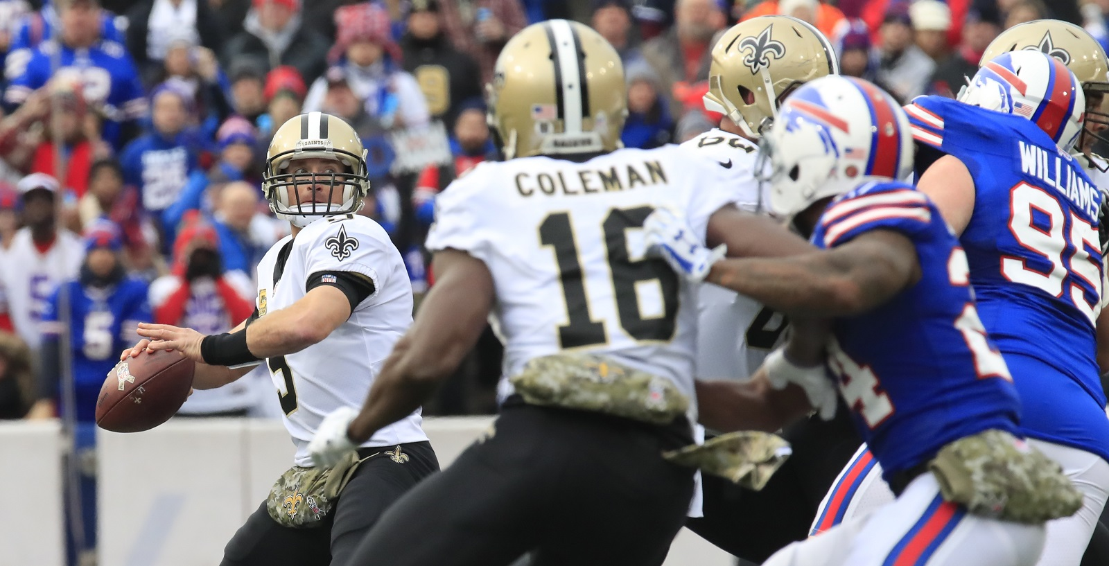 95ee6e9d3 New Orleans Saints quarterback Drew Brees didn't have to throw much to beat  the Bills, but he had plenty of success when he did. (Harry Scull Jr./  Buffalo ...