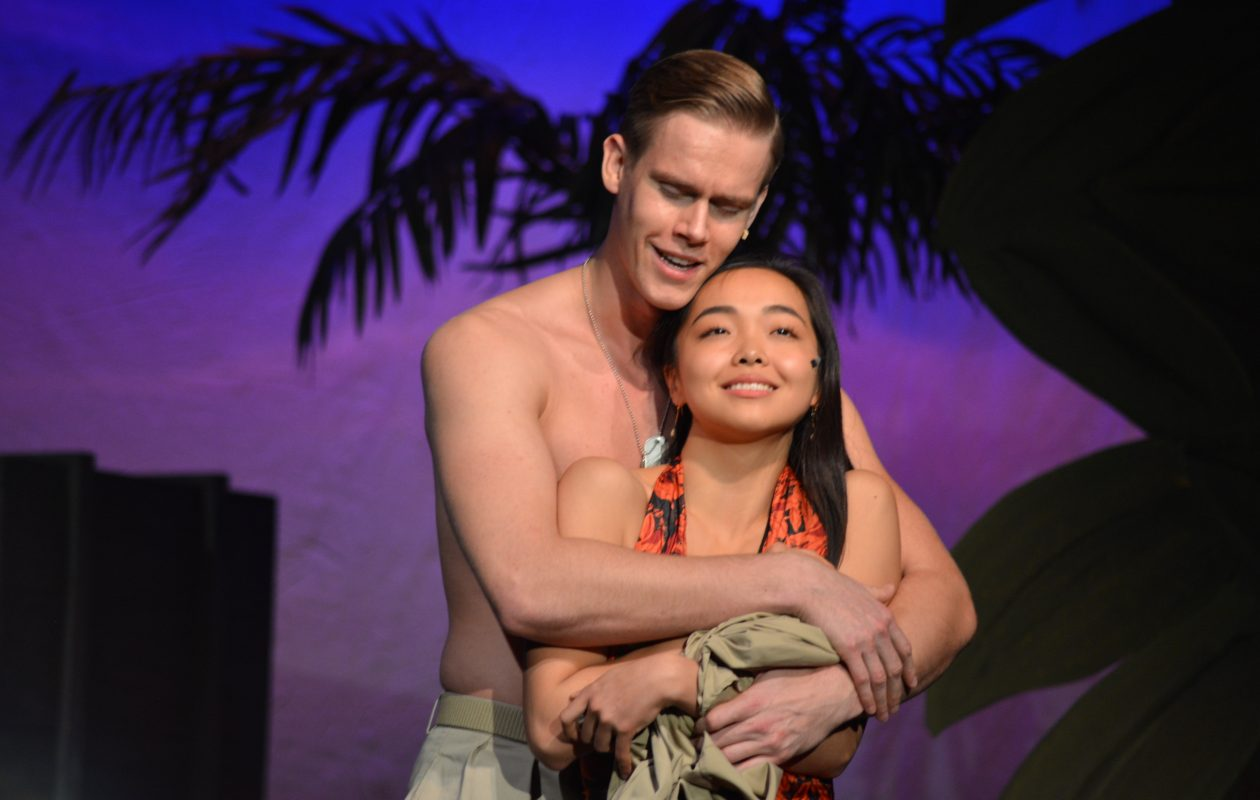 Johnny Wilson as Lt. Cable and Mamiko Nakatsugawa as Liat in Lancaster Opera House's production of 'South Pacific.'
